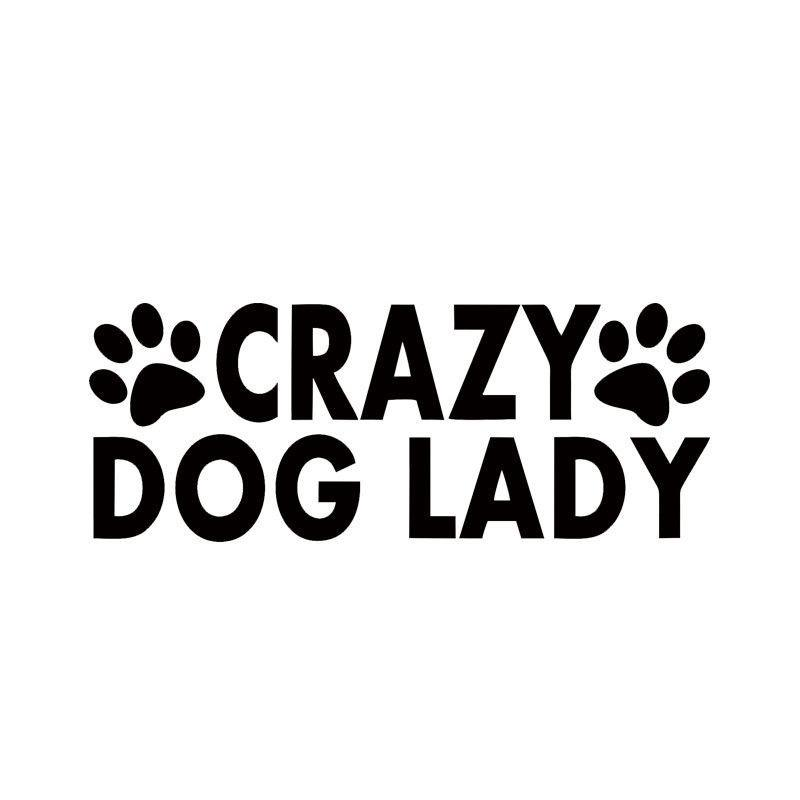Crazy Dog Lady - Vinyl Decal Car Sticker-Themed Gifts-Pets Hub Home