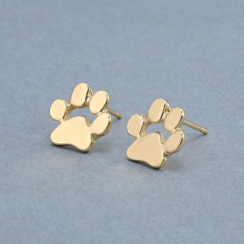 Cute Paw Earrings Fashion Jewelry-Themed Gifts-14K Gold Plated-Pets Hub Home