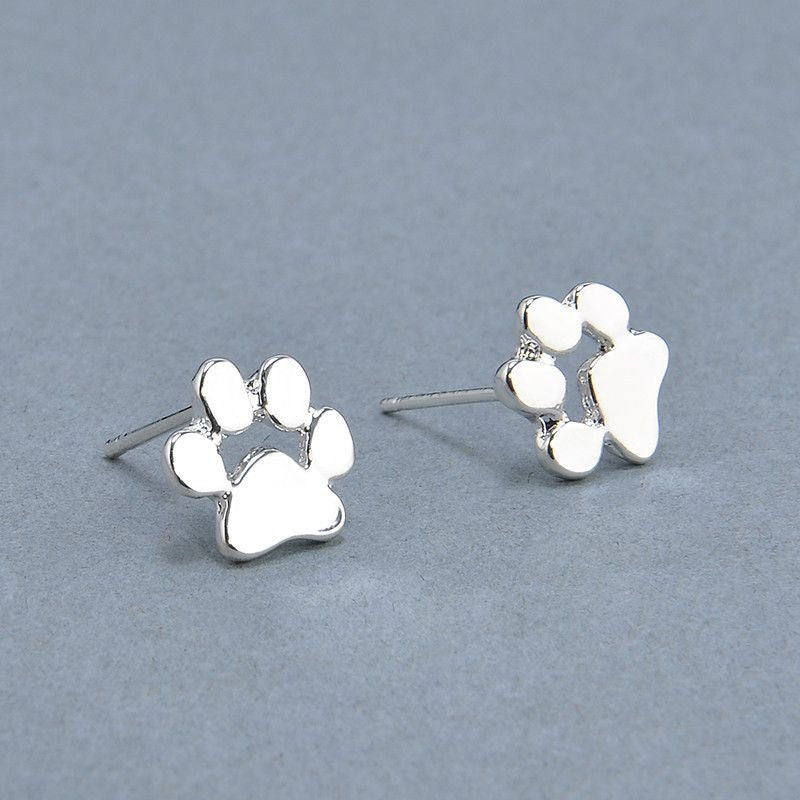 Cute Paw Earrings Fashion Jewelry-Themed Gifts-Silver Plated-Pets Hub Home