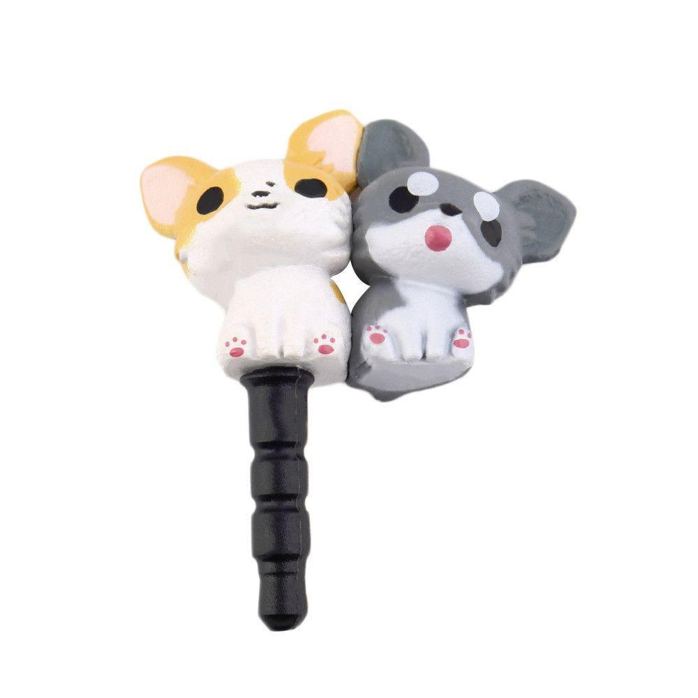 Cute Puppy Anti Dust Earphone Jack Plug for Phones-Dust Plug-Pets Hub Home