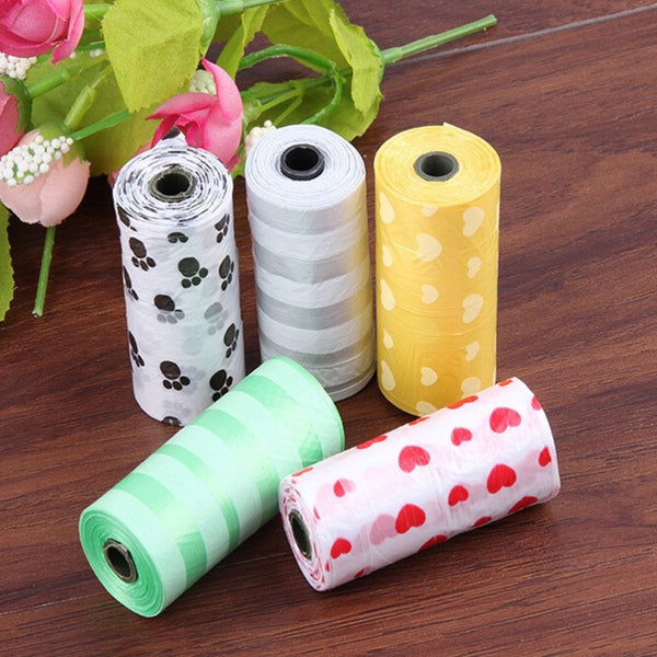 Degradable Pet Dog Poop Bag 10 rolls / 150 count-Accessories-Random-Standard-Pets Hub Home