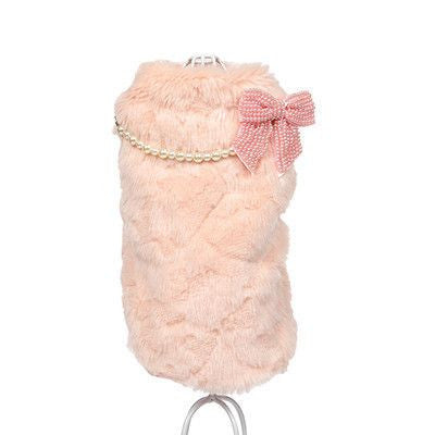 Designer Luxury Fur Overcoat-Apparel-Pink-S-Pets Hub Home