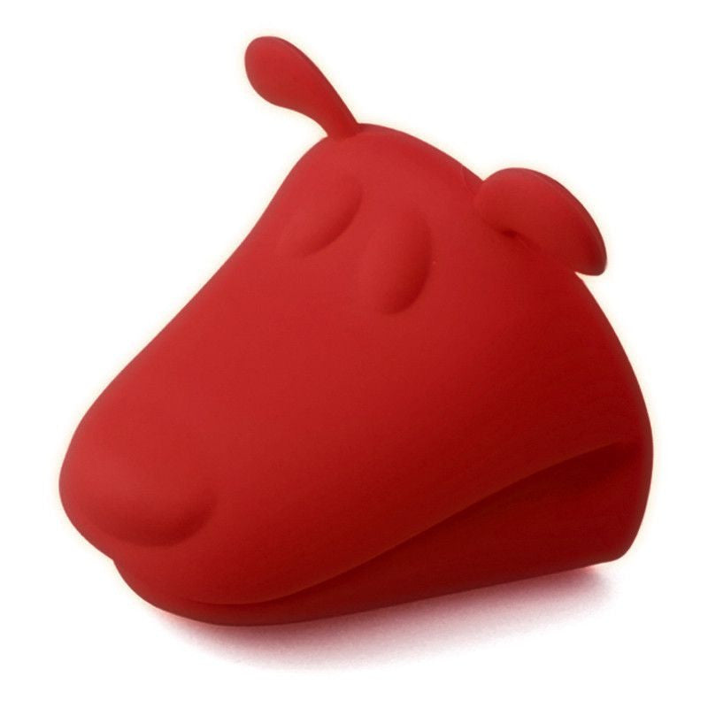 Dog Shaped Heat Resistant Silicone Kitchen Glove - 2 Pack-Themed Gifts-2 Red-Pets Hub Home