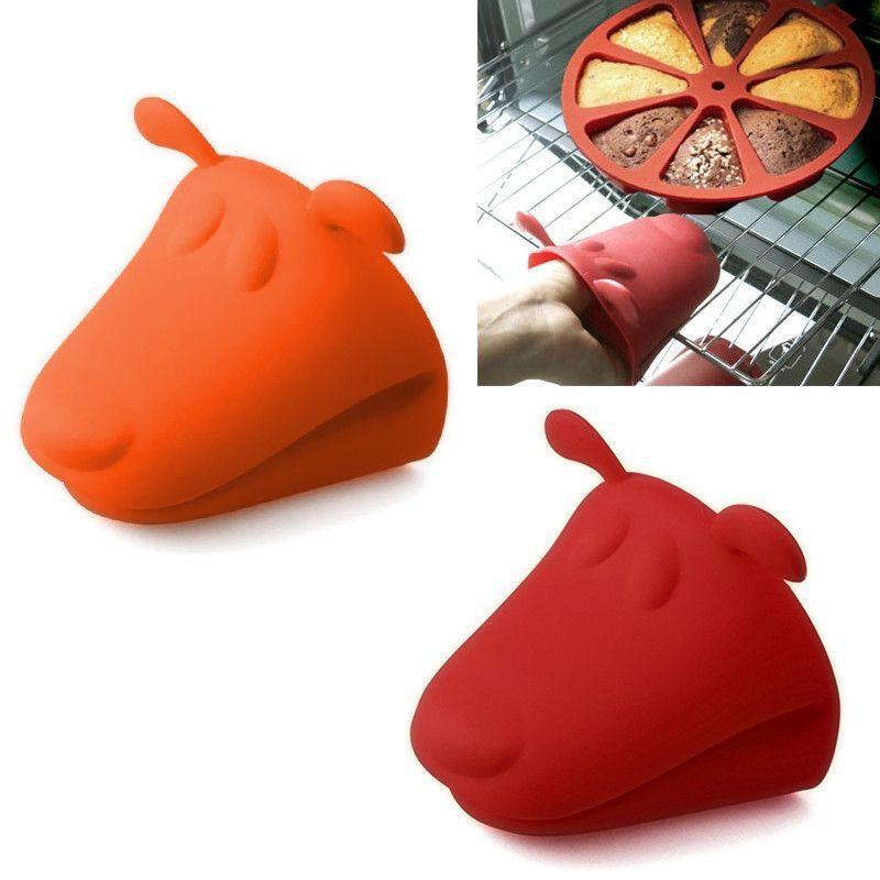 Dog Shaped Heat Resistant Silicone Kitchen Glove - 2 Pack-Themed Gifts-Pets Hub Home