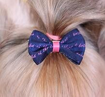 Dog/Puppy Hair Bow Clips - 5 Pcs-Accessories-Black-Pets Hub Home