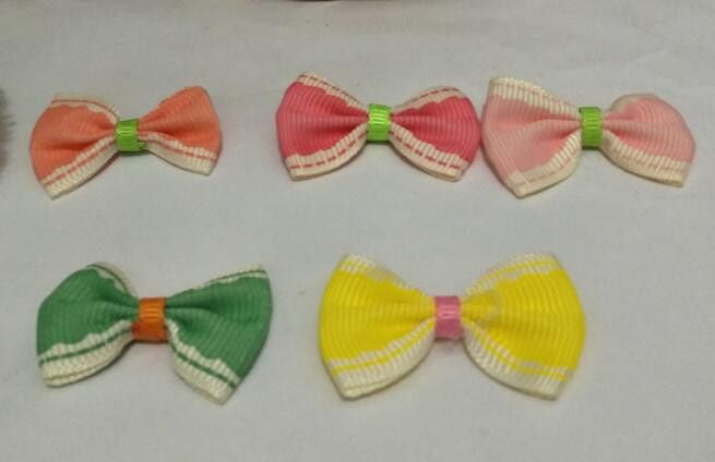 Dog/Puppy Hair Bow Clips - 5 Pcs-Accessories-mix see chart-Pets Hub Home