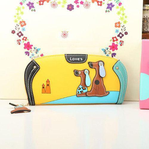 Fashion Wallet Clutch With Dog Print Designs-Themed Gifts-Pets Hub Home