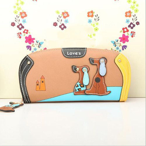 Fashion Wallet Clutch With Dog Print Designs-Themed Gifts-coffee-Pets Hub Home