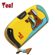 Fashion Wallet Clutch With Dog Print Designs-Themed Gifts-yellow-Pets Hub Home