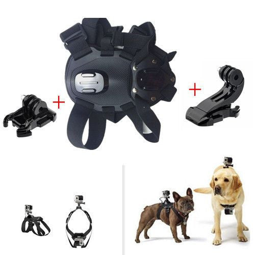 GoPro Accessories - Adjustable Dog Fetch Harness Chest Strap Belt Mount + Base + J Hook-Accessories-Pets Hub Home
