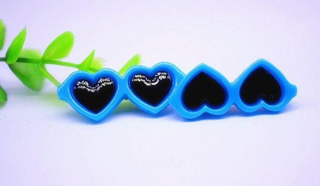 Heart Shaped Glasses Hair Clips - 2 Pcs-Accessories-Pets Hub Home