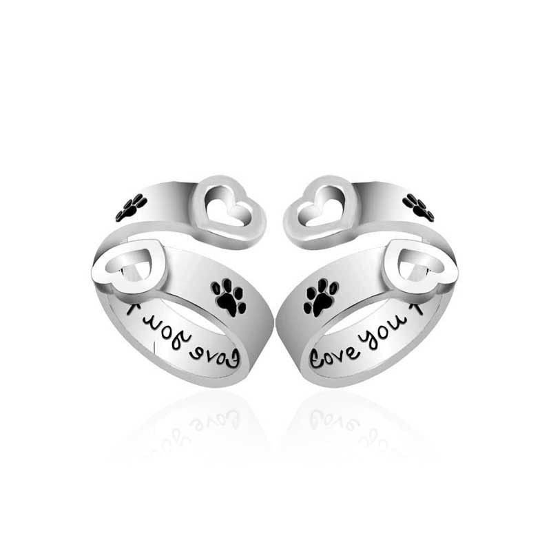 I Will Love You Forever Ring with Paw Prints-Themed Gifts-Pets Hub Home