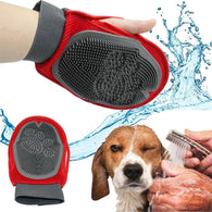 Magic Soft Grooming Dog deShedding & Massaging Glove Brush-Grooming-Red-M-Pets Hub Home