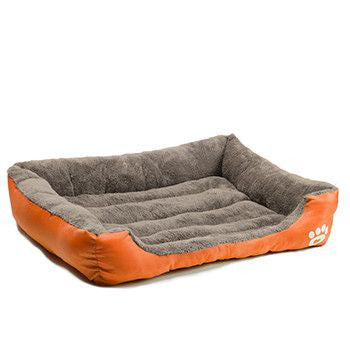 Padded Pet Bolster Kennel Bed-Accessories-Orange-S-Pets Hub Home