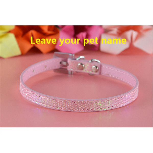 Personalized Bling charm Dog/Puppy Collar-Accessories-Pink-Neck 16 to 21 cm-Pets Hub Home