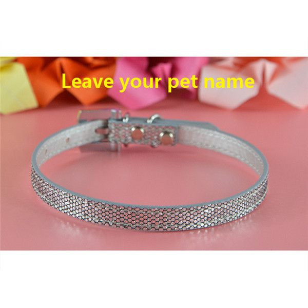 Personalized Bling charm Dog/Puppy Collar-Accessories-Silver-Neck 16 to 21 cm-Pets Hub Home