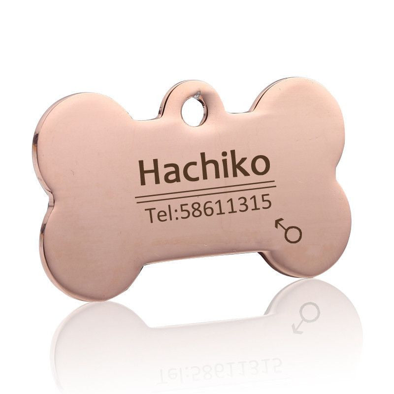 Personalized Stainless Steel Pet ID Tag-Safety-1-S-Pets Hub Home