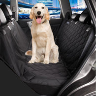 Quilted Deluxe Dog Seat Cover For Cars-Safety-Black-M-Pets Hub Home