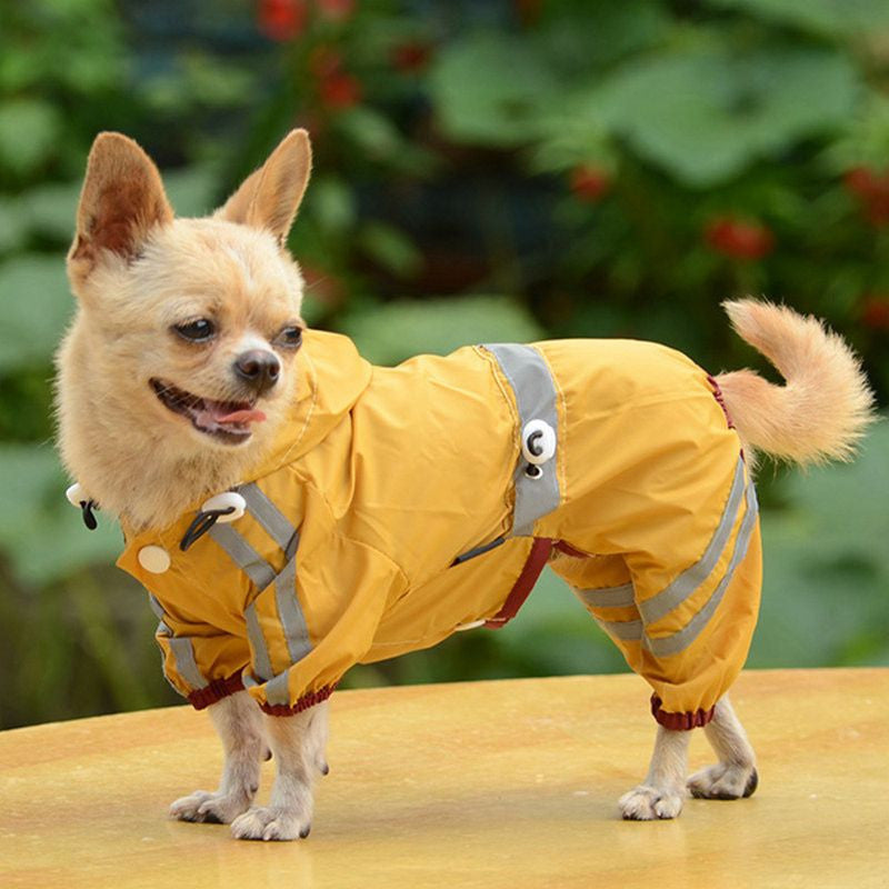 Raincoat / Jacket with hoodie-Apparel-Yellow-L-Pets Hub Home