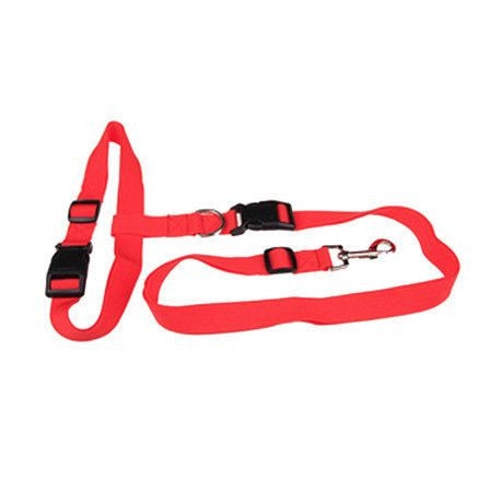 Sport Hands Free Running Adjustable Waist Dog Leash-Safety-Red-Pets Hub Home