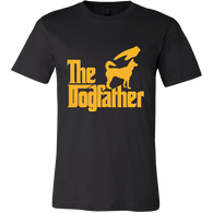 The Dogfather Tshirt-T-shirt-Canvas Mens Shirt-Black-S-Pets Hub Home
