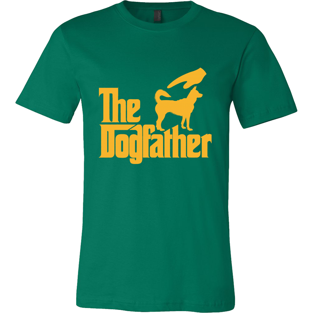 The Dogfather Tshirt-T-shirt-Canvas Mens Shirt-Kelly Green-S-Pets Hub Home