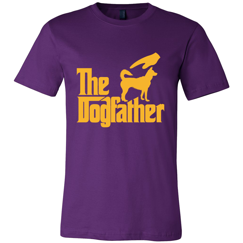 The Dogfather Tshirt-T-shirt-Canvas Mens Shirt-Team Purple-S-Pets Hub Home