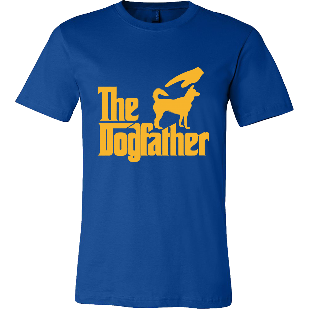 The Dogfather Tshirt-T-shirt-Canvas Mens Shirt-True Royal-S-Pets Hub Home