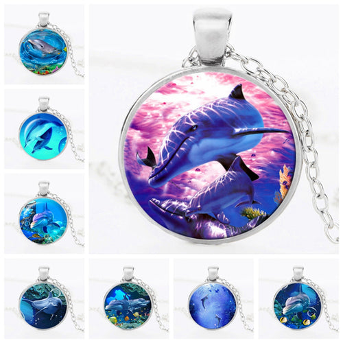 Ocean Dolphin Pendant Necklace