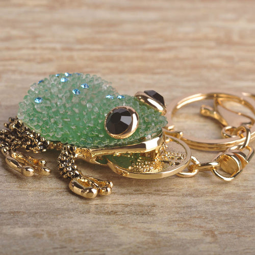 Kawaii Green Blue Lucky Toad Keychains