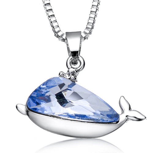 Crystal Whale Pendant Necklace
