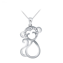 Crystal Silver Plated Monkey Necklaces