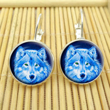 Lunar Wolf Stud Earrings