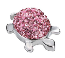 Charm Bracelets - 6 Different Colors - Turtle 18mm Metal Snap Button For Bangle