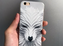 Luxury 3D Relief Wolf Phone Case For iPhone 5 5 s se, 6 6S, 7 7Plus