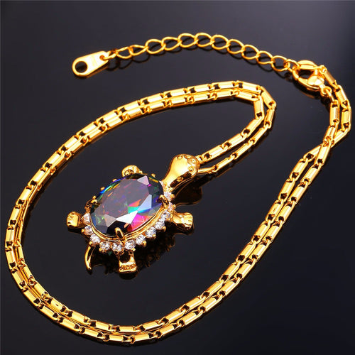 2017 New Beautiful Gold Plated Lucky Turtle Pendant Necklace - 60% Off