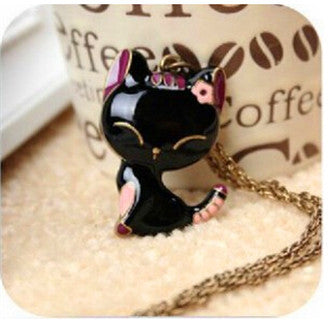 Long Chain 2016 Colorful Cat Necklace
