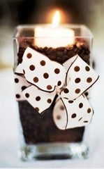 coffee candle center pieces