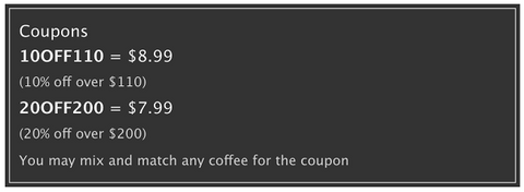 coffee discounts