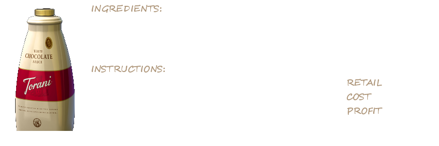 Torani Sauces Recipe