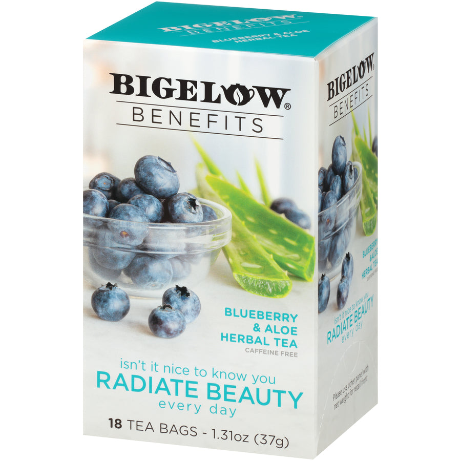 Bigelow Benefits Radiate Beauty Blueberry and Aloe Tea 18ct