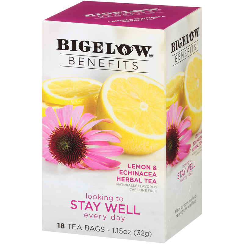 Bigelow Benefits Stay Well Lemon and Echinacea Tea 18ct