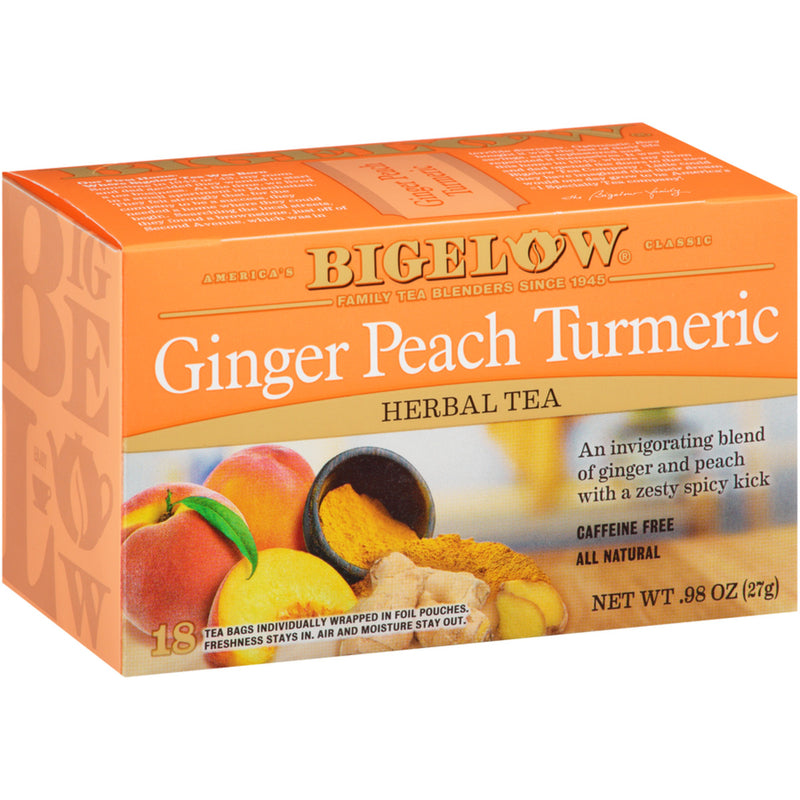 Bigelow Ginger Peach Turmeric Tea 18ct