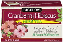 Bigelow Cranberry Hibicus Herbal Tea 20ct