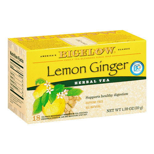 Bigelow Lemon Ginger Herbal Tea 28ct