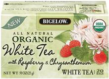 Bigelow Organic Raspberry White Tea 20ct