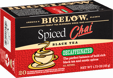 Bigelow Spiced Chai Tea Decaf 20ct