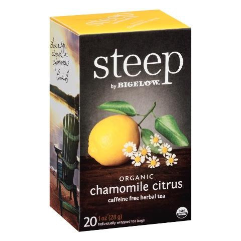 Bigelow STEEP Organic Chamomile Citrus Tea 20ct
