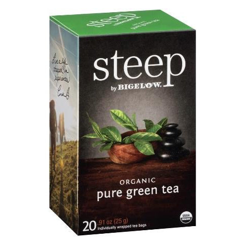 Bigelow STEEP Organic Green Tea 20ct