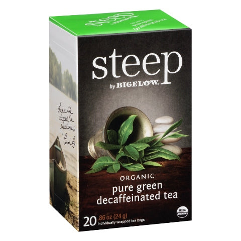 Bigelow STEEP Organic Green Tea Decaf 20ct